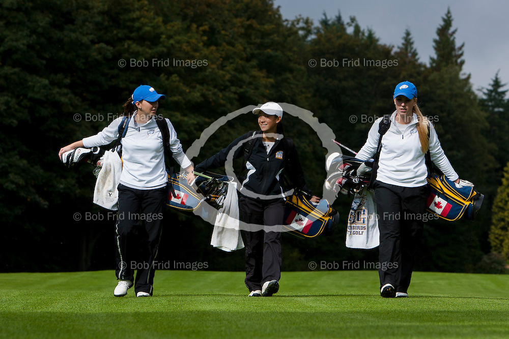 07 October 2011:  Action during a UBC Thunderbirds  men's and women's golf practice round held at Shaughnessy Golf and Country Club in Vancouver, BC, Canada.   ****(Photo by Bob Frid/UBC Athletics) 2011 All Rights Reserved****