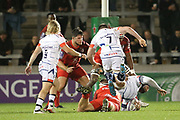 Ben Curry during the European Rugby Challenge Cup match between Sale Sharks and Toulouse at the AJ Bell Stadium, Eccles, United Kingdom on 13 October 2017. Photo by George Franks.