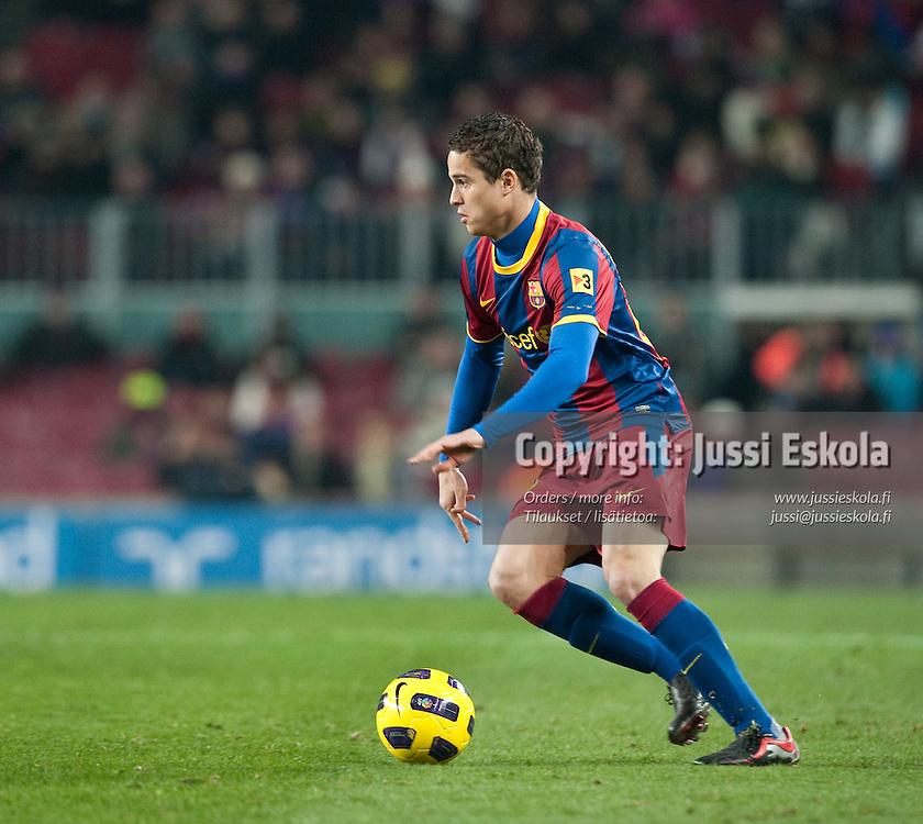 Ibrahim Afellay. FC Barcelona - Almeria. Copa del Rey. Barcelona, Camp Nou. 26.1.2011. Photo: Jussi Eskola