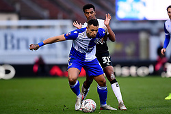 Jonson Clarke-Harris of Bristol Rovers is marked by Dexter Walters of Coventry City - Mandatory by-line: Ryan Hiscott/JMP - 05/01/2020 - FOOTBALL - Memorial Stadium - Bristol, England - Bristol Rovers v Coventry City - Emirates FA Cup third round