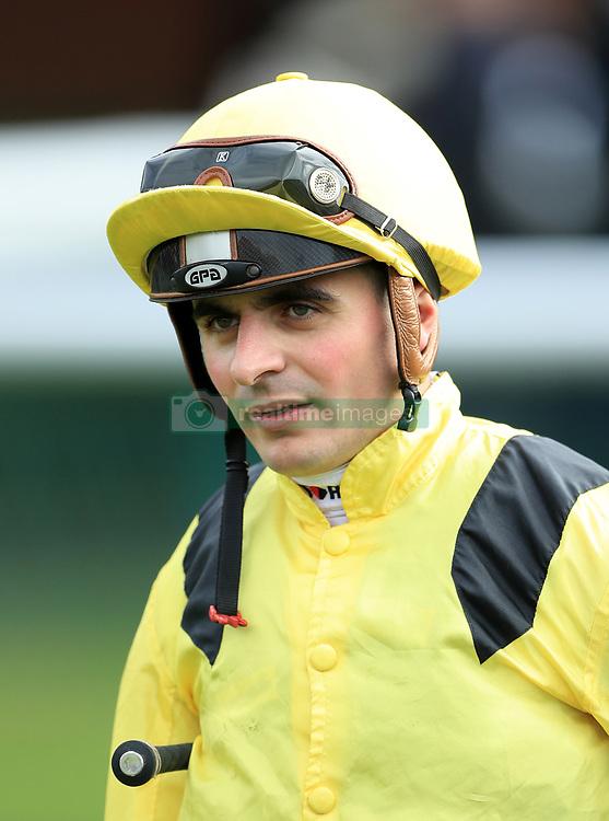 Jockey Andrea Atzeni at Newmarket Racecourse