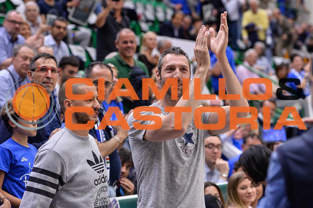 Manuel Vanuzzo<br /> Banco di Sardegna Dinamo Sassari - Dolomiti Energia Aquila Basket Trento<br /> Legabasket Serie A LBA Poste Mobile 2016/2017<br /> Playoff Quarti Gara3<br /> Sassari 16/05/2017<br /> Foto Ciamillo-Castoria
