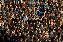 Chelsea fans look on in the sun - Photo mandatory by-line: Rogan Thomson/JMP - 07966 386802 - 13/12/2014 - SPORT - FOOTBALL - London, England - Stamford Bridge - Chelsea v Hull City - Barclays Premier League.