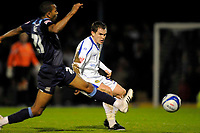Neil Kilkenny (Leeds) passes the ball past Kevin Betsy (Southend United). Southend United Vs Leeds United.Coca Cola League 1. Roots Hall. Southend. 28/10/08 Credit Colorsport/Garry Bowden