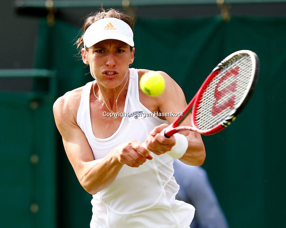 Wimbledon Championships 2013, AELTC,London,<br /> ITF Grand Slam Tennis Tournament,<br /> Andrea Petkovic (GER),Aktion,Einzelbild,Halbkoerper,Querformat,
