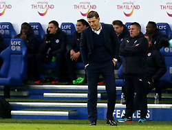 West Ham United manager Slaven Bilic looks at the ground in frustration - Mandatory by-line: Robbie Stephenson/JMP - 31/12/2016 - FOOTBALL - King Power Stadium - Leicester, England - Leicester City v West Ham United - Premier League