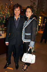 ANDY & PATTI WONG at a party to celebrate 100 years of Chinese Cinema hosted by Shangri-la Hotels and Tartan Films at Asprey, New Bond Street, London on 25th April 2006.<br /><br />NON EXCLUSIVE - WORLD RIGHTS