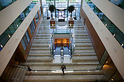 Aerial view of atrium at hotel chain, Sofitel at Heathrow's terminal 5.