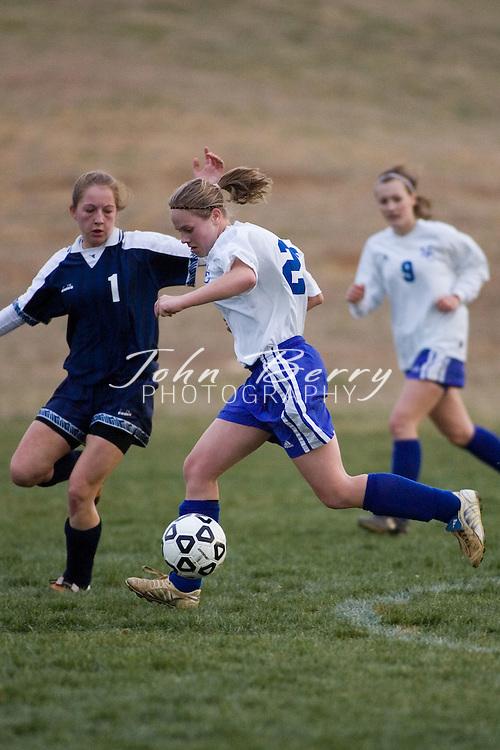 MCHS JV Girls Soccer.vs Orange.March 23, 2006