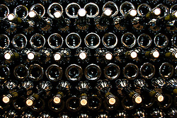 CZECH REPUBLIC MORAVIA DOLNI DUNAJOVICE 9SEP05 - Bottles of wine get stored in cool underground cellars at the Mikrosvin Mikulov wineyard. Southern Moravia's centuries-old traditions in wine growing make it a well-established wine region...jre/Photo by Jiri Rezac..© Jiri Rezac 2005..Contact: +44 (0) 7050 110 417.Mobile:  +44 (0) 7801 337 683.Office:  +44 (0) 20 8968 9635..Email:   jiri@jirirezac.com.Web:     www.jirirezac.com..© All images Jiri Rezac 2005 - All rights reserved.