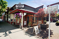 La Stella Trattoria restaurant and other shops at the Heritage Mews, Wesley Street, Old City Quarter of Nanaimo, Vancouver Island, British Columbia, Canada 2018