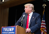 10/16/2015 - Tyngsborough, MA - Republican presidential candidate DONALD J. TRUMP delivers a speech at a sold-out rally at Tyngsborough Elementary School in Tyngsborough, Massachusetts. on Friday, Oct. 16, 2015. (Evan Sayles / The Tufts Daily)