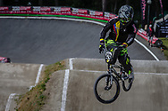 #424 (OSORIO GIRALDO Kevin) COL during round 4 of the 2017 UCI BMX  Supercross World Cup in Zolder, Belgium.