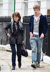 Peter Huhne with Vicky Pryce, 57, who knew nothing of the affair of her husband, Liberal Democrat Energy Secretary Chris Huhne, Monday February 11, 2013. Photo By Anthony Upton / i-Images
