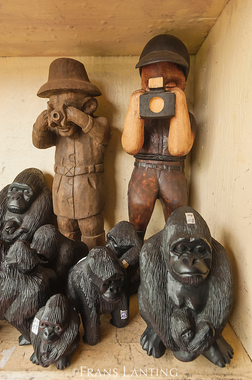 Mountain gorilla figurines, Volcanoes National Park, Rwanda