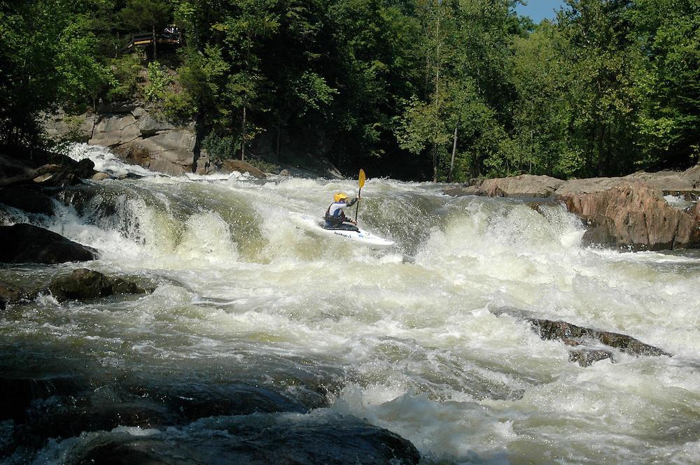 Whitewater Kayaking on the Housatonic River, Bulls Bridge Section