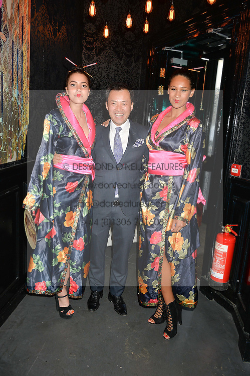 SENG KHOU and Geisha Girls at the launch of Geisha at Ramusake hosted by Piers Adam and Marc Burton at Ramusake, 92B Old Brompton Road, London on 11th June 2015.