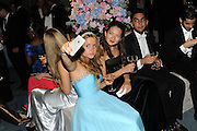 OLGA NESTERENKO; YULIYA KVETKO; AMIR EMARATI, Florence Heoluwa 'Cuppy' Otedola Marie Antoinette Graduation party. Mandarin Oriental, Knightsbridge25th of July 2014.