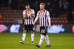 Mark Duffy of Sheffield United cuts a frustrated figure after his side draw with Sheffield Wednesday - Mandatory by-line: Robbie Stephenson/JMP - 09/11/2018 - FOOTBALL - Bramall Lane - Sheffield, England - Sheffield United v Sheffield Wednesday - Sky Bet Championship