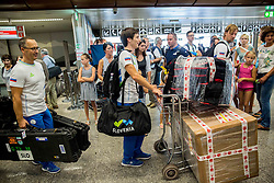 Ales Kosmac, Aleksej Dolinsek during departure of Slovenian Paralympic Team to Paralympic Games Rio 2016, on August 31, 2016, in Airport Joze Pucnik, Brnik, Slovenia. Photo by Vid Ponikvar / Sportida