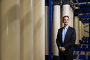 San Jose Water Company's CEO Eric Thornburg poses for a portrait at the Montevina Water Treatment Plant in Los Gatos, California, on July 27, 2018. (Stan Olszewski for Silicon Valley Business Journal)