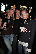 Charlotte Christodoulou,  Tarquin Southwell and Lauren Burlingham.  PJ's Annual Polo Party . Annual Pre-Polo party that celebrates the start of the 2007 Polo season.  PJ's Bar & Grill, 52 Fulham Road, London, SW3. 14 May 2007. <br /> -DO NOT ARCHIVE-© Copyright Photograph by Dafydd Jones. 248 Clapham Rd. London SW9 0PZ. Tel 0207 820 0771. www.dafjones.com.