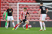 Southampton Jake Hesketh during the Barclays U21 Premier League match between U21 Southampton and U21 Manchester United at the St Mary's Stadium, Southampton, England on 25 April 2016. Photo by Phil Duncan.