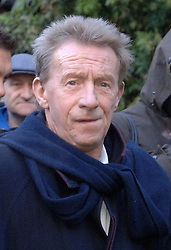 Former England and Manchester United footballer Denis Law speaks to the media after visiting close friend George Best outside the Cromwell Hospital in west London, as the football legend remains close to death. Best's family, including son Calum, 24, and father Dickie, 87, kept a vigil by his bedside and former team mates Sir Bobby Charlton and Denis Law came to say emotional goodbyes. See PA Story HEALTH Best. PRESS ASSOCIATION Photo. Photo credit should read: Matthew Fearn/PA