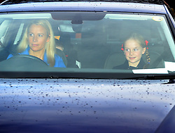 Lady Rose Gilman (left) and her daughter Lyla Gilman arriving for the Queen's Christmas lunch at Buckingham Palace, London.