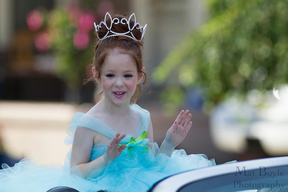 Tiny Miss New Jersey Alycia Fetty; Pitman 4th of July Parade down Broadway in Pitman NJ on Wednesday July 4, 2012. (photo / Mat Boyle)