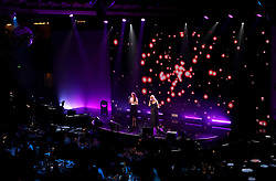 Ward Thomas performing during the Professional Footballers' Association Awards 2017 at the Grosvenor House Hotel, London