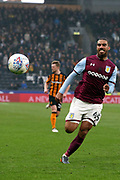 Aston Villa midfielder Lewis Grabban (45) chases the ball  during the EFL Sky Bet Championship match between Hull City and Aston Villa at the KCOM Stadium, Kingston upon Hull, England on 31 March 2018. Picture by Mick Atkins.