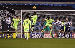 Leonardo Da Silva Lopes of Peterborough United heads clear from a Millwall corner - Mandatory by-line: Joe Dent/JMP - 28/02/2017 - FOOTBALL - The Den - London, England - Millwall v Peterborough United - Sky Bet League One