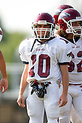 29 August 2011: Freshmen football action between the Joplin Eagles and Glendale Falcons.