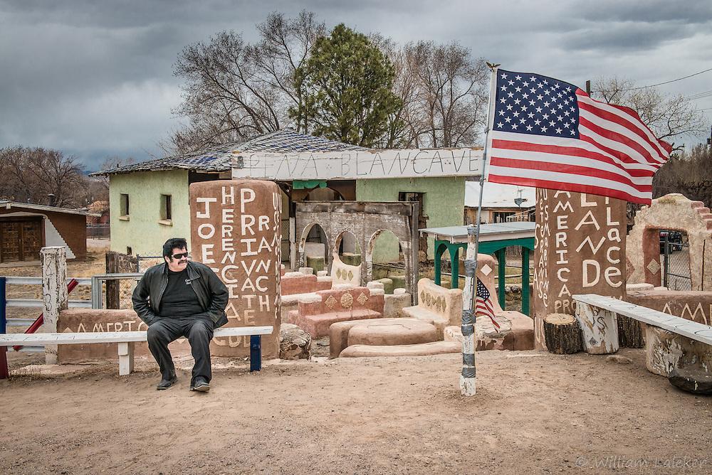 A veteran of Mexican heritage celebrates his patriotism in the Pueblo of Conchiti, NM.