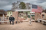 A veteran of Mexican heritage celebrates his patriotism in the Pueblo of Conchiti, NM.