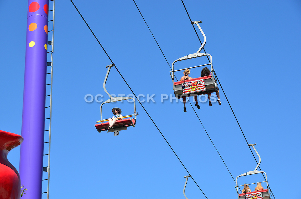 People On The Gondola Ride At The OC Fair