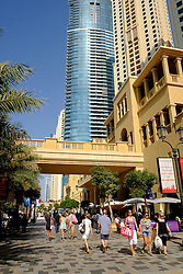 The Walk shopping and dining street at Jumeirah Beach Residences (JBR) in Dubai United Arab Emirates