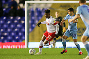Chiedozie Ogbene of Rotherham United (19) makes a surging run during the EFL Sky Bet League 1 match between Coventry City and Rotherham United at the Trillion Trophy Stadium, Birmingham, England on 25 February 2020.