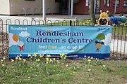 Children's centre sign banner, Rendlesham, Suffolk
