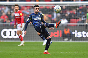Pablo Hernandez (19) of Leeds United controls the ball during the EFL Sky Bet Championship match between Bristol City and Leeds United at Ashton Gate, Bristol, England on 9 March 2019.