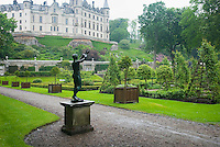 Elaborate gardens of Dunrobin Castle Scotland