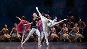 La Bayadere <br /> A ballet in three acts <br /> Choreography by Natalia Makarova <br /> After Marius Petipa <br /> The Royal Ballet <br /> At The Royal Opera House, Covent Garden, London, Great Britain <br /> General Rehearsal <br /> 30th October 2018 <br /> <br /> STRICT EMBARGO ON PICTURES UNTIL 2230HRS ON THURSDAY 1ST NOVEMBER 2018 <br /> <br /> <br /> <br /> Vadim Muntagirov as Solor <br /> A warrior <br /> <br /> Natalia Osipova as Gamzatti <br /> <br /> <br /> Photograph by Elliott Franks Royal Ballet's Live Cinema Season - La Bayadere is being screened in cinemas around the world on Tuesday 13th November 2018 <br />