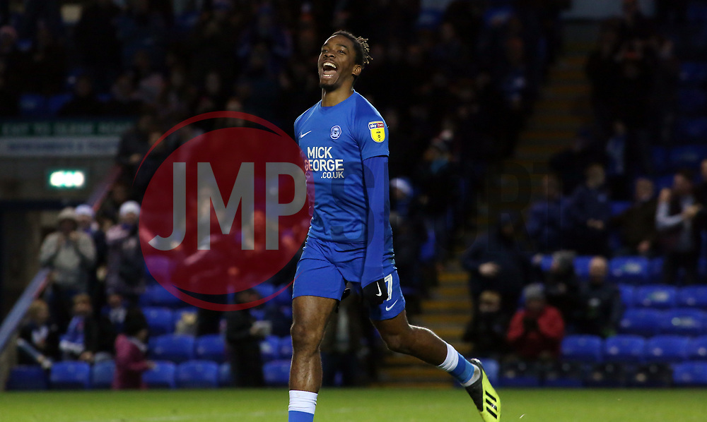 Ivan Toney of Peterborough United celebrates scoring the equalisng goal - Mandatory by-line: Joe Dent/JMP - 22/12/2018 - FOOTBALL - ABAX Stadium - Peterborough, England - Peterborough United v Walsall - Sky Bet League One