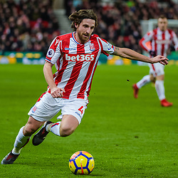 Stoke City midfielder Joe Allen (4) during the Premier League match between Stoke City and Liverpool<br /> (c) John Baguley | SportPix.org.uk