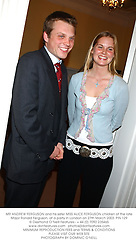 MR ANDREW FERGUSON and his sister MISS ALICE FERGUSON children of the late Major Ronald Ferguson, at a party in London on 27th March 2003.	PIN 129