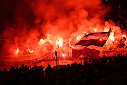 26.11.2011, AWD Arena, Hannover, GER, 1.FBL, Hannover 96 vs Hamburger SV, im Bild Fans Hamburger SV zümdem Bengalos // during the Match GER, 1.FBL, Hannover 96 vs Hamburger SV, AWD Arena, Hannover, Germany, on 2011/11/26. EXPA Pictures © 2011, PhotoCredit: EXPA/ nph/ SielskiSielski..***** ATTENTION - OUT OF GER, CRO *****