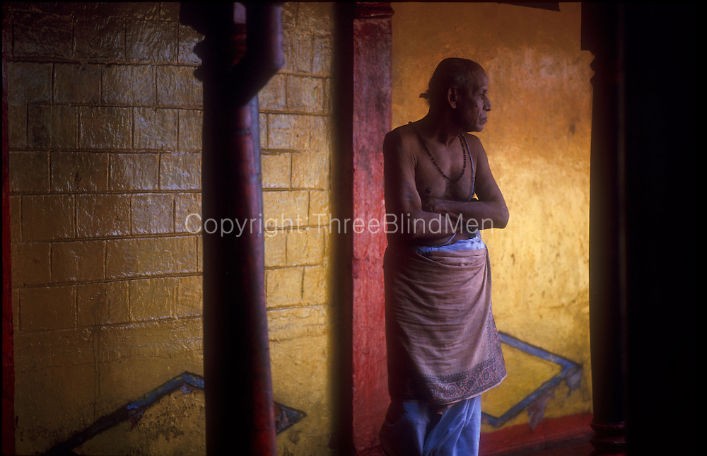 Priest at a Hindu Temple by the beach in Mutwal, Colombo.