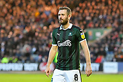 David Fox (8) of Plymouth Argyle during the EFL Sky Bet League 1 match between Plymouth Argyle and Accrington Stanley at Home Park, Plymouth, England on 22 December 2018.