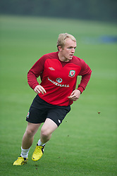 CARDIFF, WALES - Saturday, September 8, 2012: Wales' Jonathan Williams during a training session at the Vale of Glamorgan ahead of the 2014 FIFA World Cup Brazil Qualifying Group A match against Serbia. (Pic by David Rawcliffe/Propaganda)